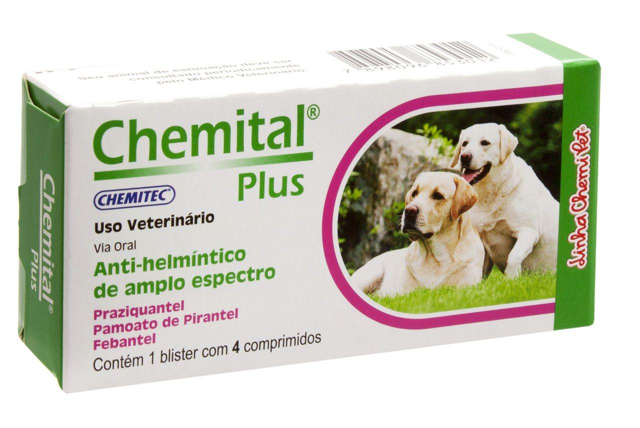 Chemital Plus C/4 Comprimidos