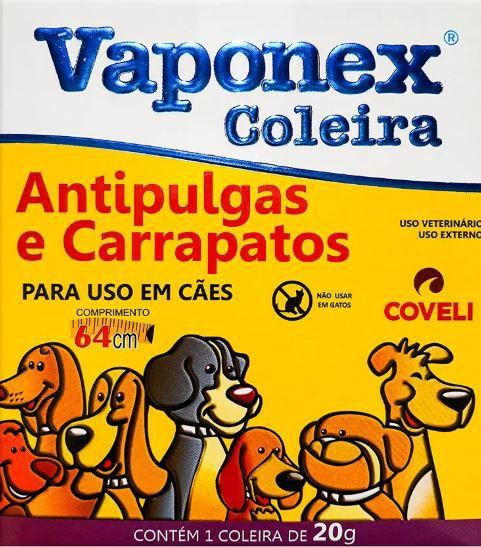 Coleira A/P Vaponex 20 Grs