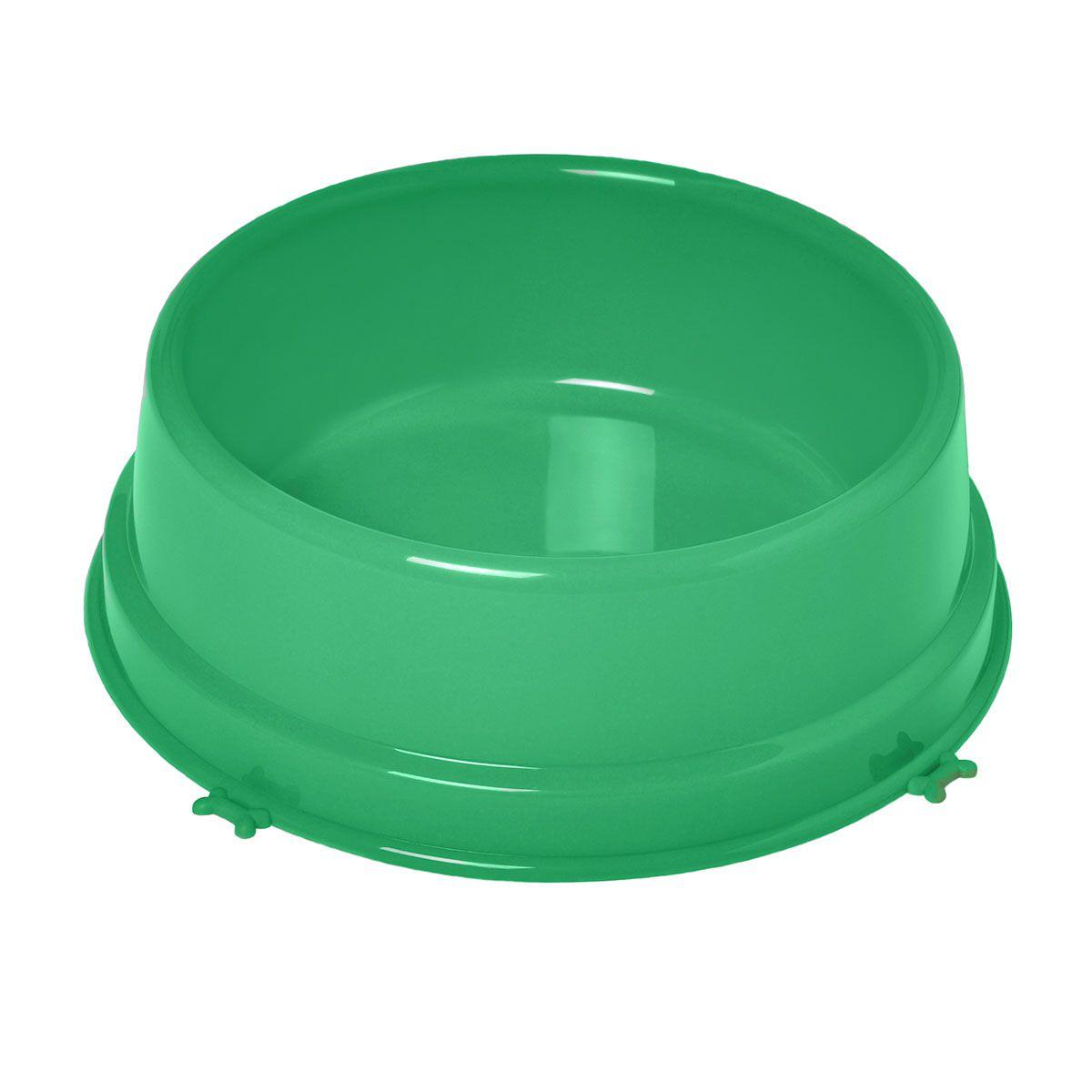 Comedouro Christino  Caes Grande 2000 Ml Verde embalagem 5 unidades