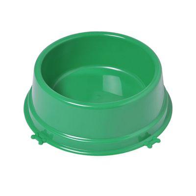Comedouro Christino Caes Medio 1100 Ml Verde Embalagem 5 unidades