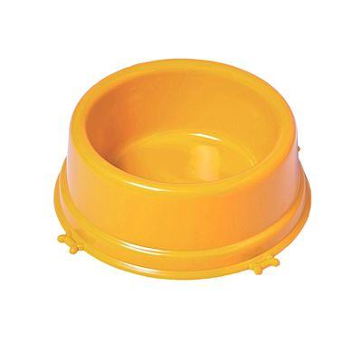 Comedouro Caes Pequeno 550 Ml Amarelo