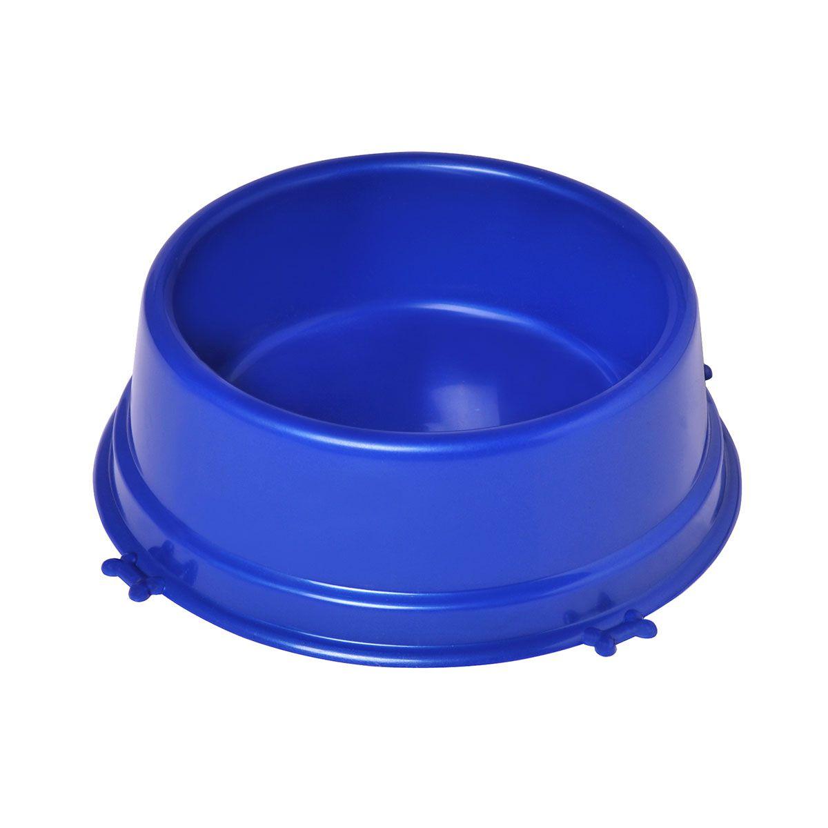 Comedouro Caes Perolizado Medio 1100 Ml Azul