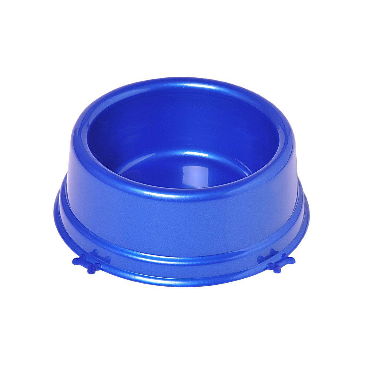 Comedouro Christino Caes Perolizado Pequeno 550 Ml Azul Embalagem 5 unidades