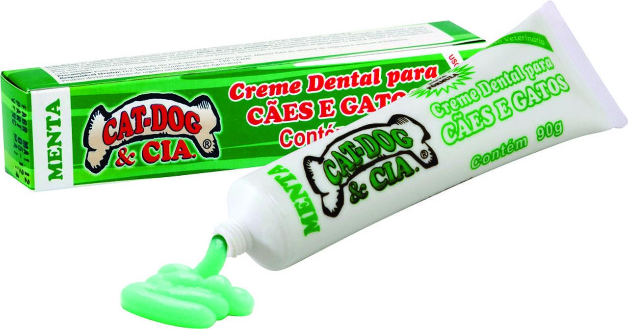 Creme Dental P/Caes E Gatos Menta 90 Grs