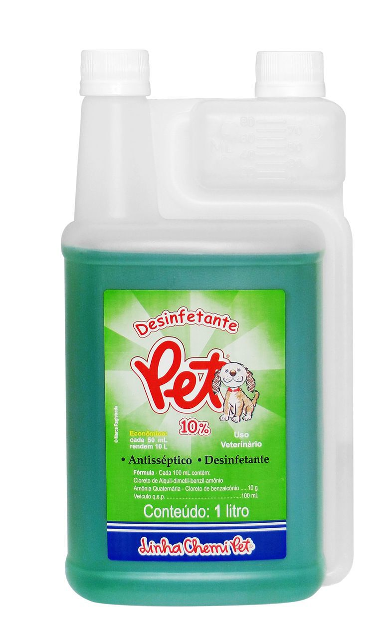 Desinfetante Pet Chemitec 1 Litro