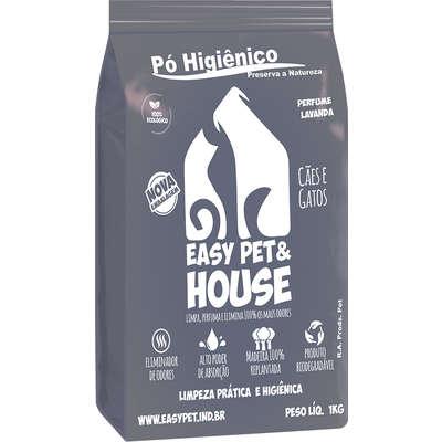 Eliminador de Odores Easy Pet & House em Pó Higiênico de 1 Kg - Lavanda