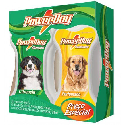 Kit Shampoo Citronela + Cond Powerdog 500 Ml