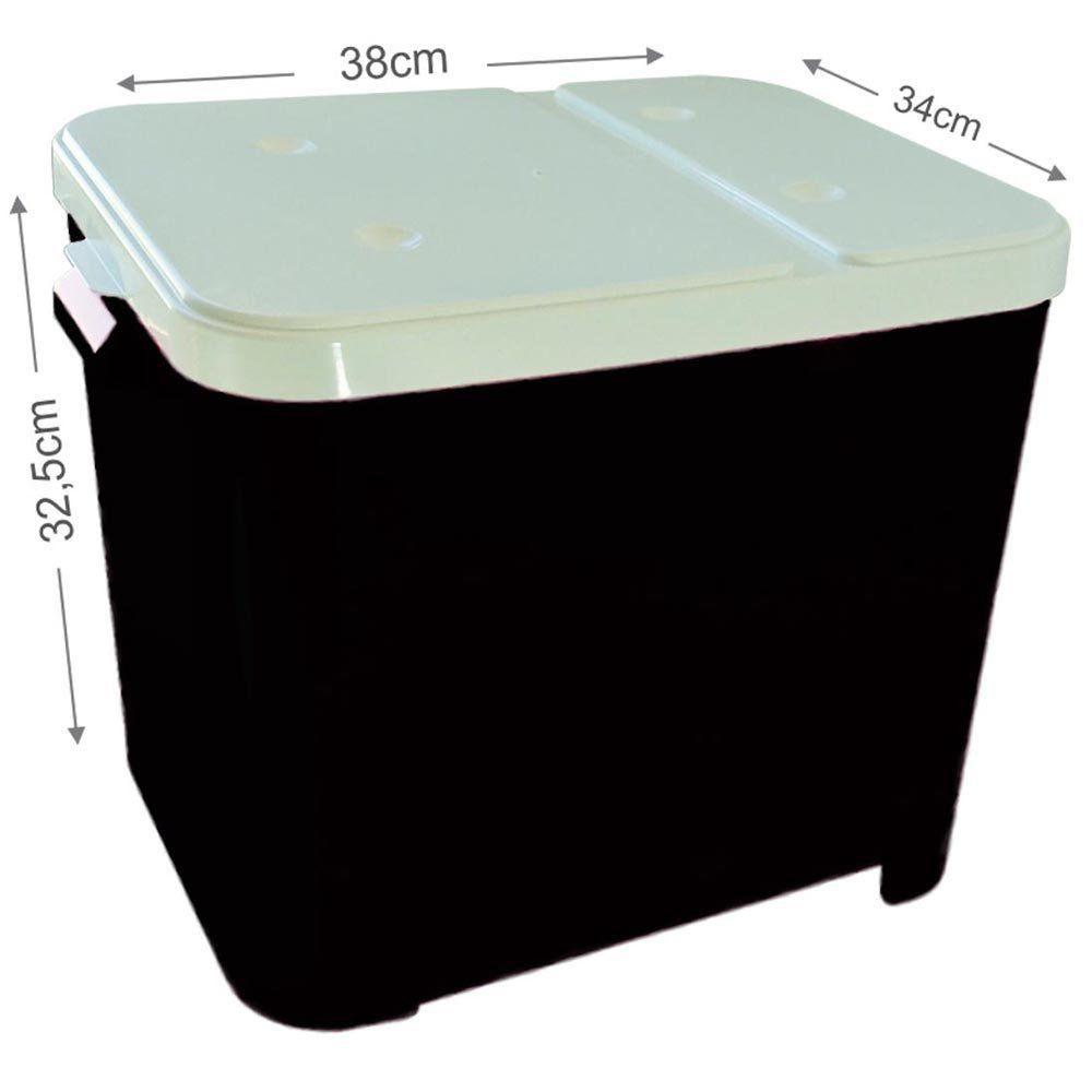 Porta Ração Furacão Pet Container de 15 Kg - Preto