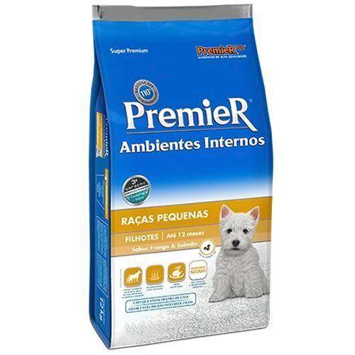 Ração Premier Ambientes Internos de Frango E Salmão para Cães Filhotes de Raças Pequenas