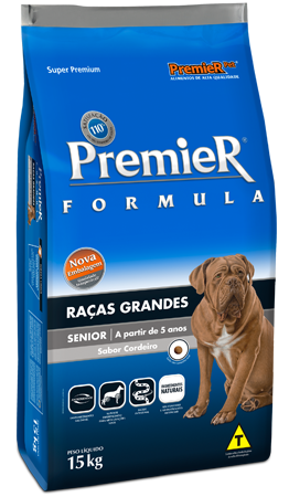 Ração Premier Formula Senior de Cordeiro para Cães Idosos de Raças Grandes