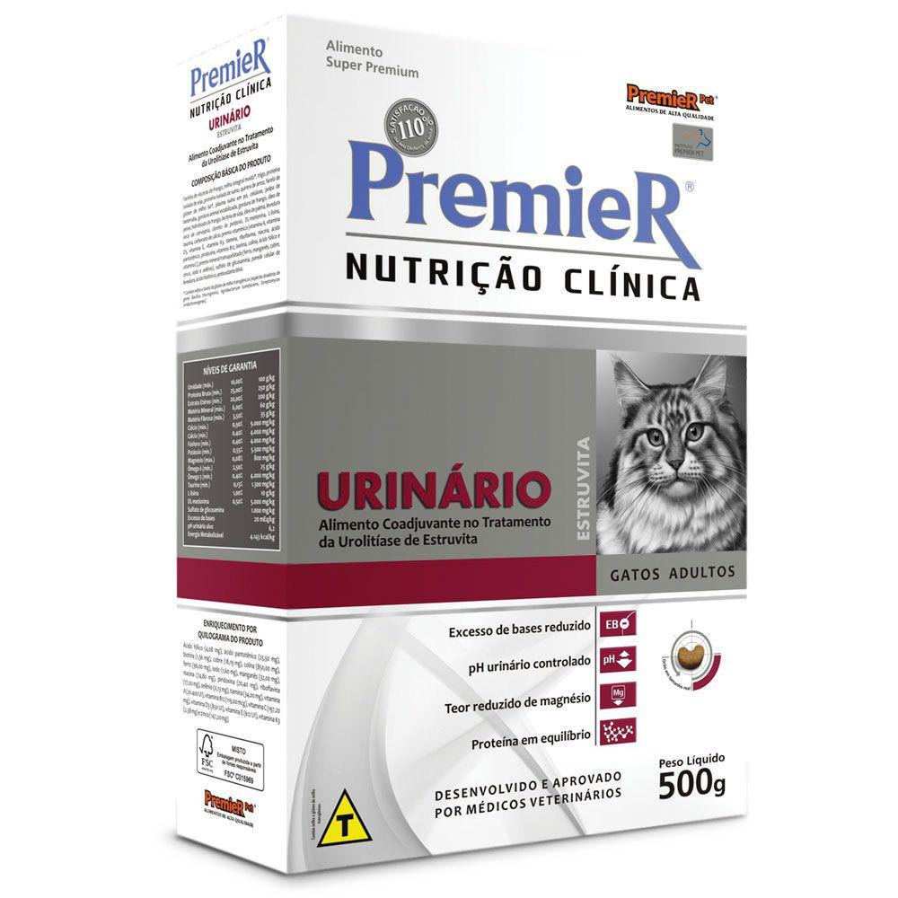 Ração Premier Nutrição Clínica Urinário para Gatos Adultos com Cálculos Urinários