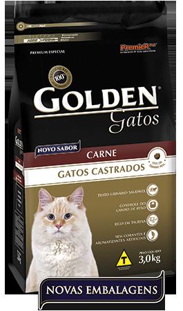 Ração Premier Pet Golden de Carne para Gatos Adultos Castrados