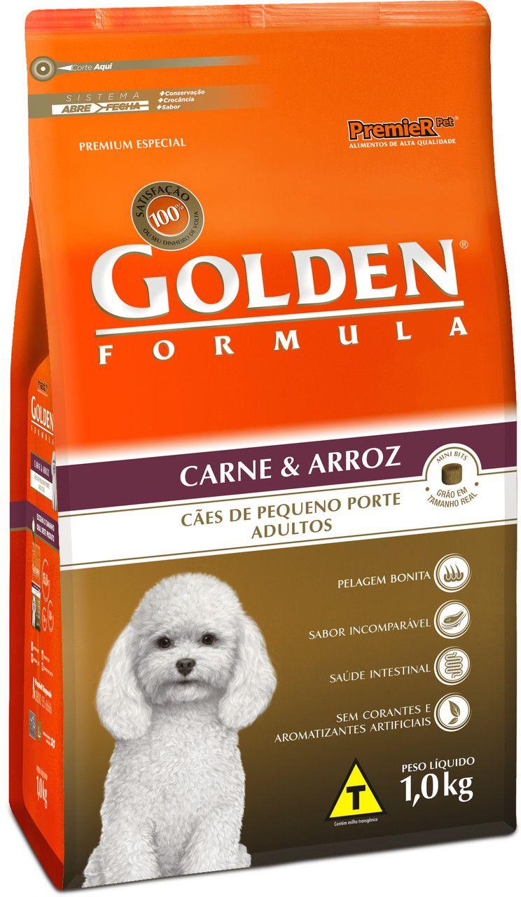 Ração Premier Pet Golden Formula de Carne e Arroz para Cães Adultos de Raças Pequenas