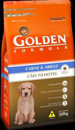 Ração Premier Pet Golden Formula de Carne e Arroz para Cães Filhotes