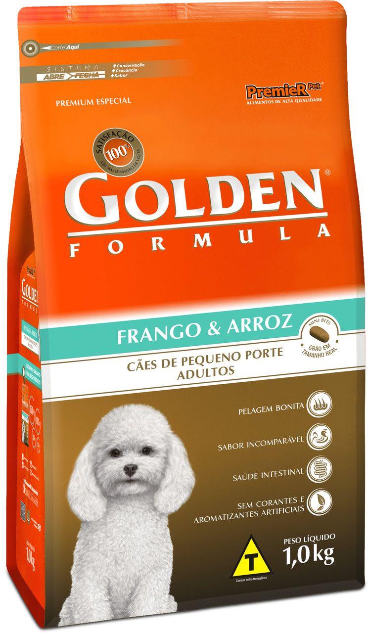 Ração Premier Pet Golden Formula de Carne e Arroz para Cães Filhotes de Raças Pequenas