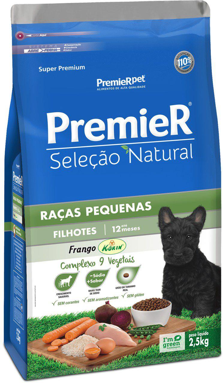 Ração Premier Pet Golden Seleção Natural de Frango para Cães Filhotes de Raças Pequenas