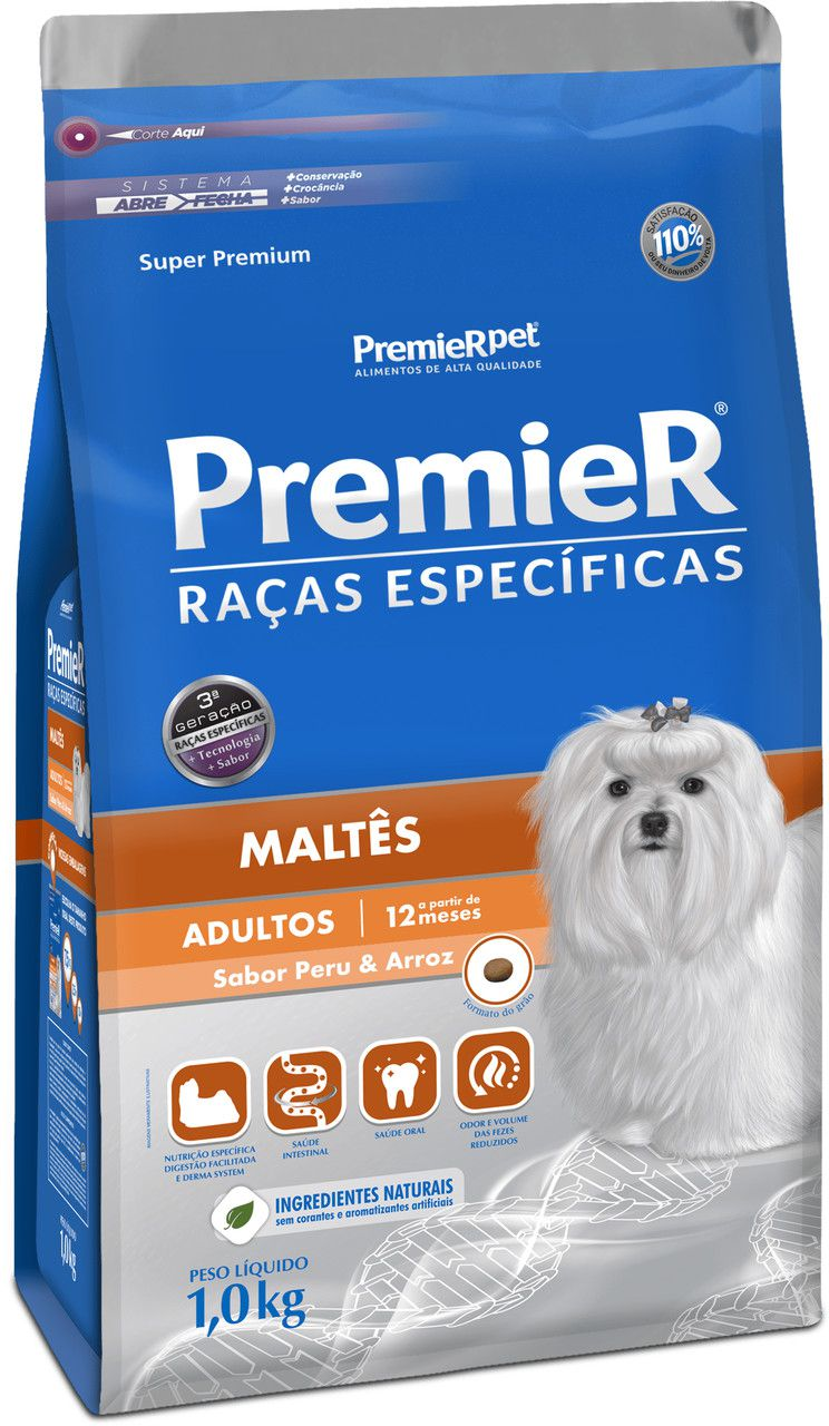 Ração Premier Raças Especificas para Cães Adultos Maltês