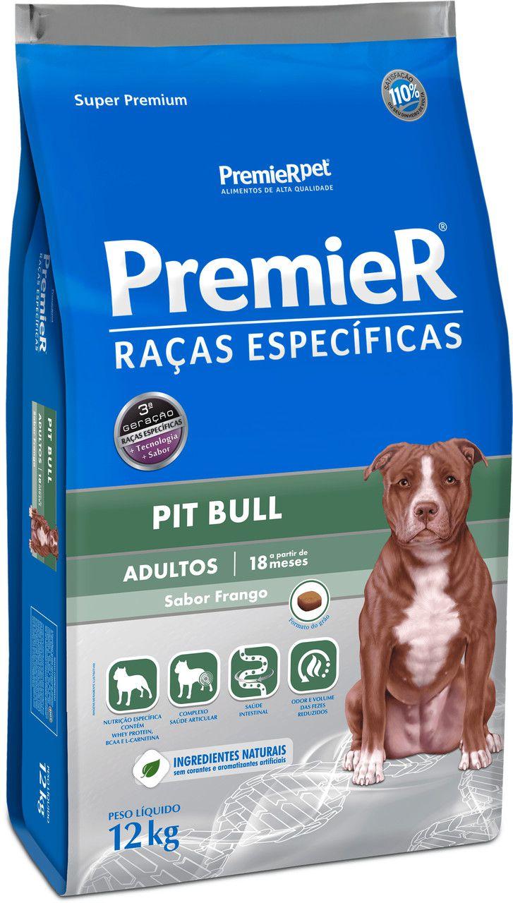 Ração Premier Raças Especificas para Cães Adultos Pitbull