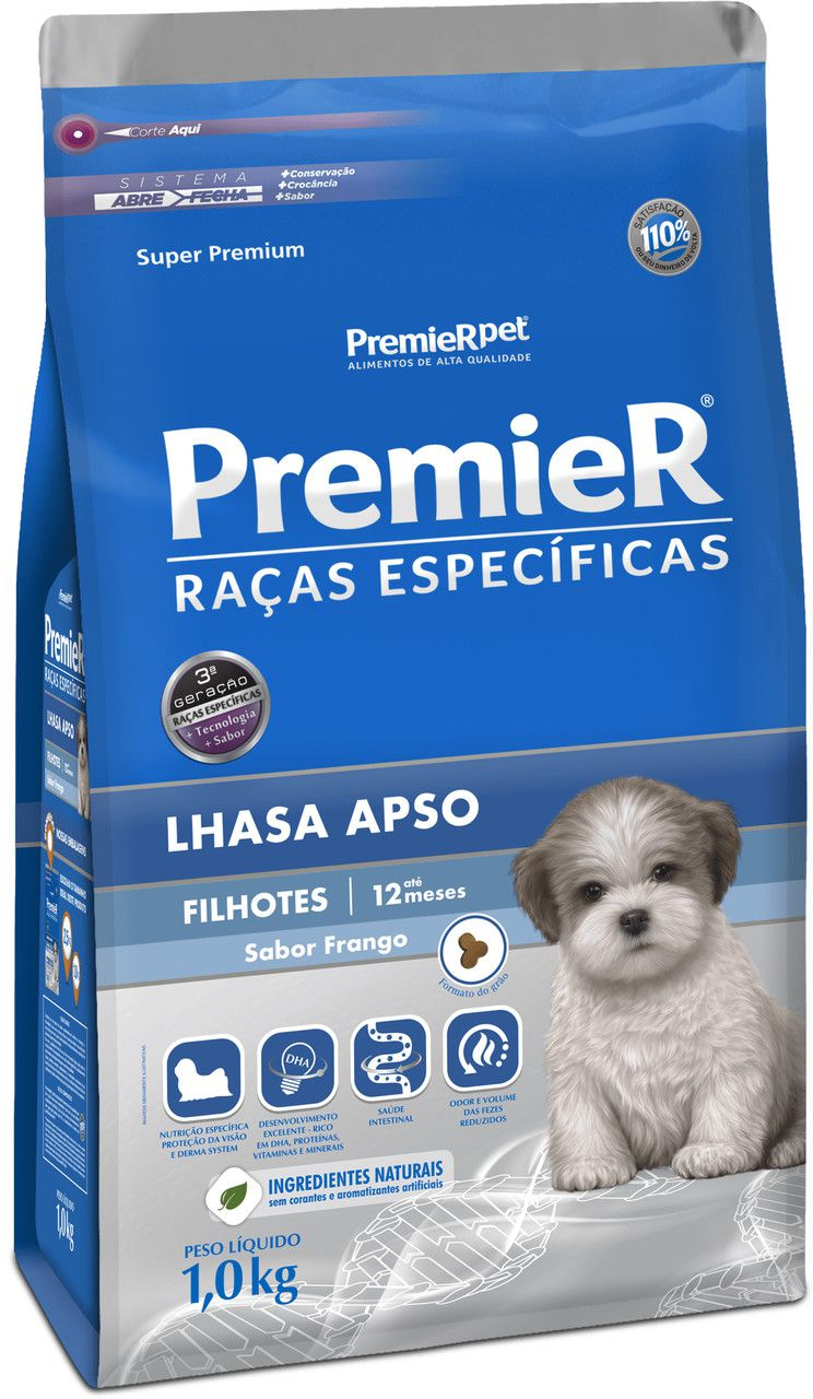 Ração Premier Raças Especificas para Cães Filhotes Lhasa Apso
