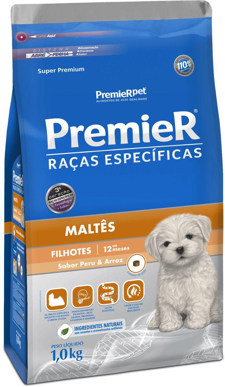 Ração Premier Raças Especificas para Cães Filhotes Maltês