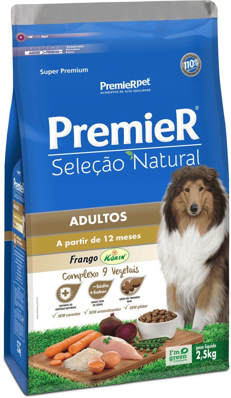 Ração Premier Seleção Natural de Frango para Cães Adultos