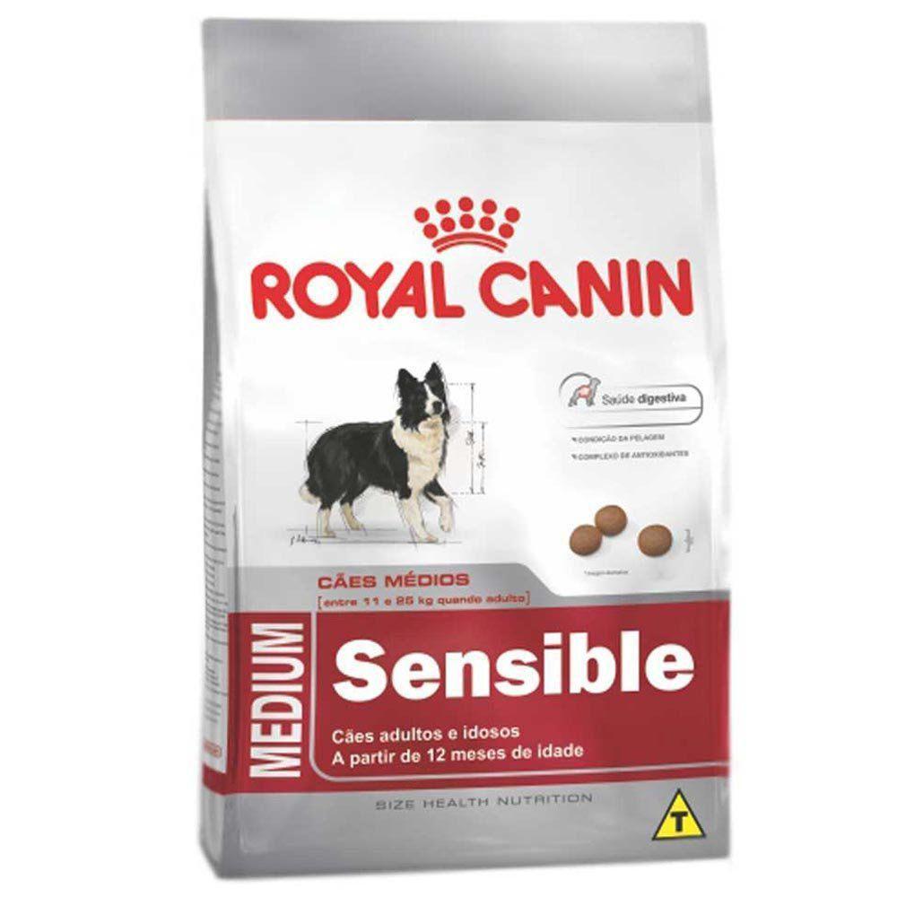 Ração Royal Canin SHN Medium Sensible para Cães Adultos de Raças Médias com Paladar Sensível