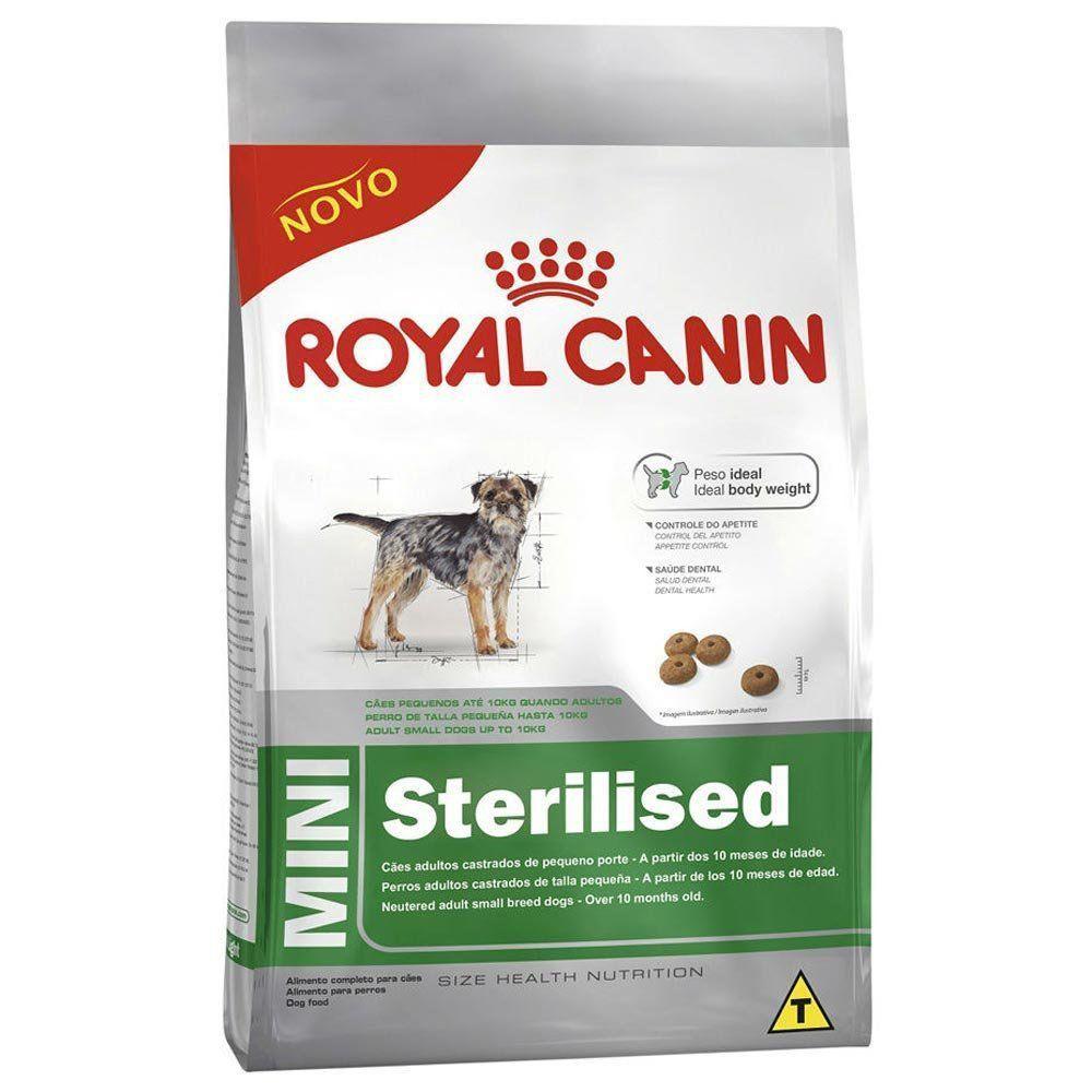 Ração Royal Canin SHN Mini Sterilised para Cães Adultos Castrados de Raças Pequenas
