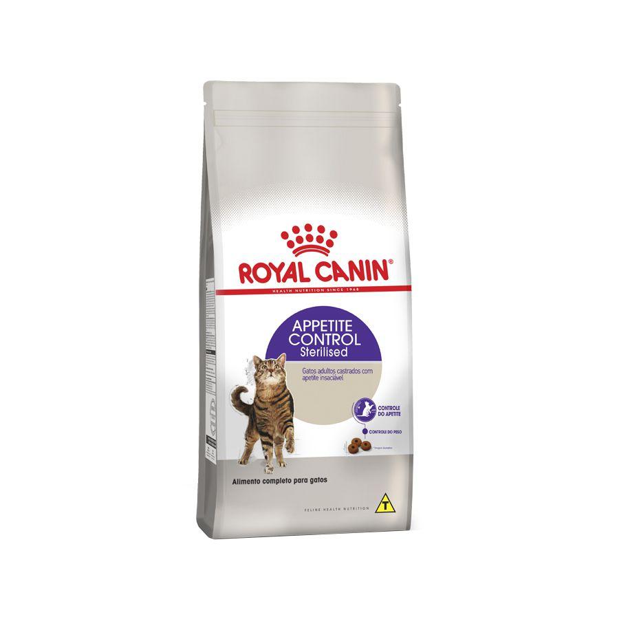 Ração Royal Canin Sterilised Appetite Control para Gatos Adultos Castrados com Muito Apetite