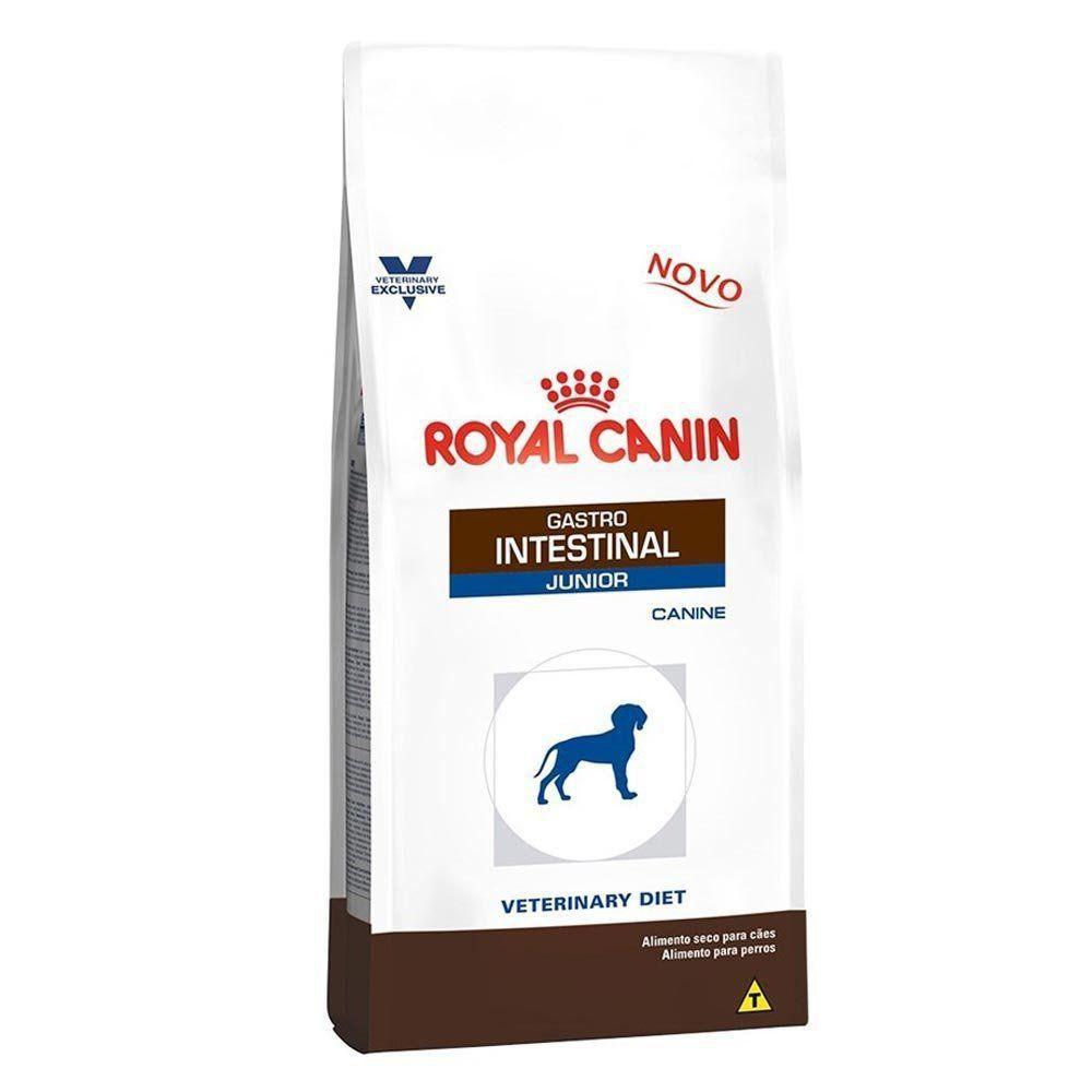 Ração Royal Canin Veterinary Diet Gastro Intestinal Junior Cães Filhotes com Doenças Intestinais