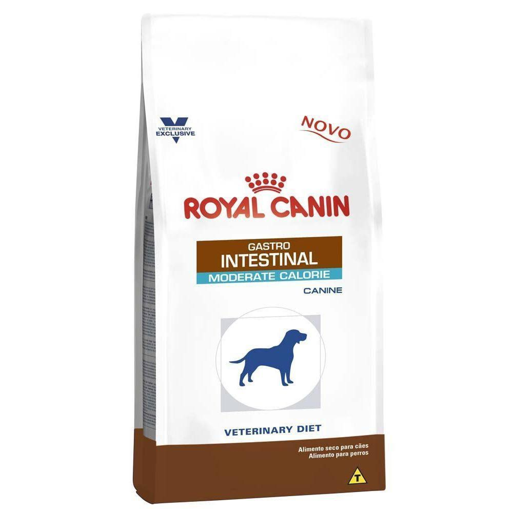 Ração Royal Canin Veterinary Diet Gastro Intestinal Moderate Calorie de Cães Adultos Baixa Caloria