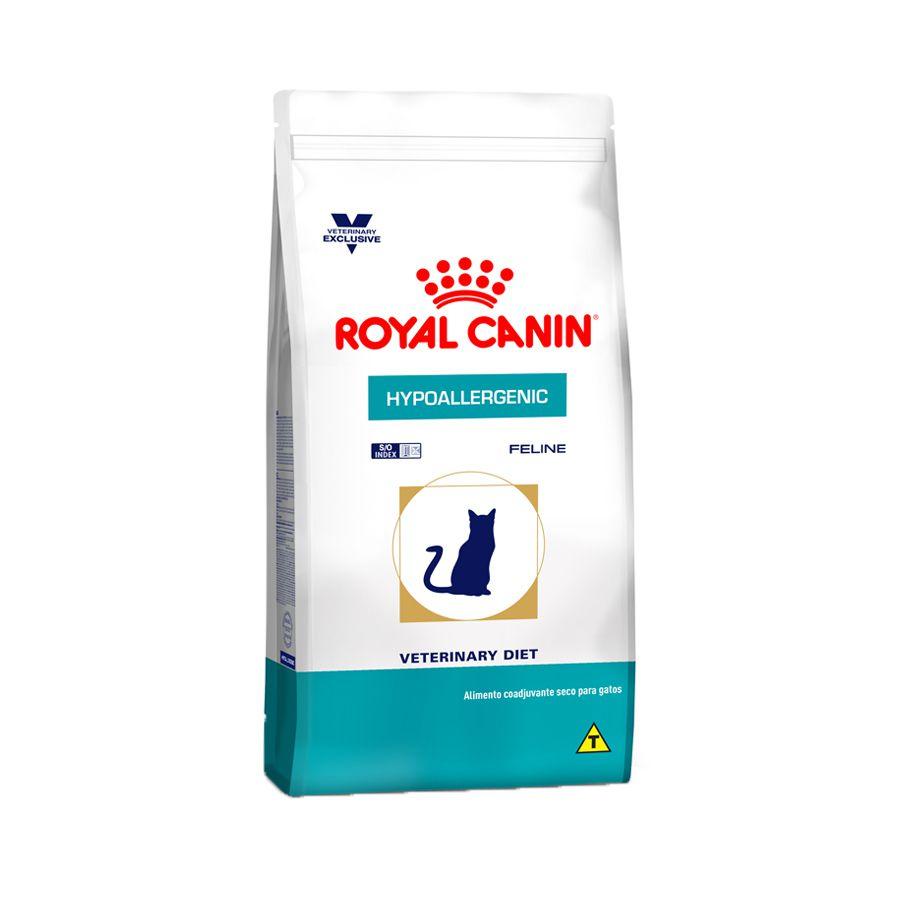 Ração Royal Canin Veterinary Diet Hypoallergenic para Gatos Adultos com Problemas de Pele