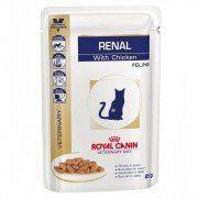 Ração Royal Canin Veterinary Diet Renal em Sachê para Gatos Adultos com Insuficiência Renal - 100 g