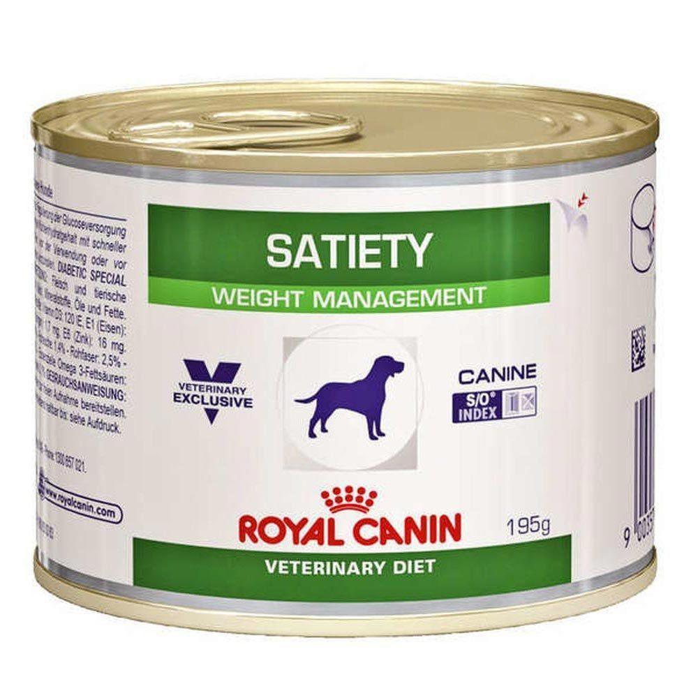 Ração Royal Canin Veterinary Diet Satiety Support Lata para Cães Adultos com Muito Apetite