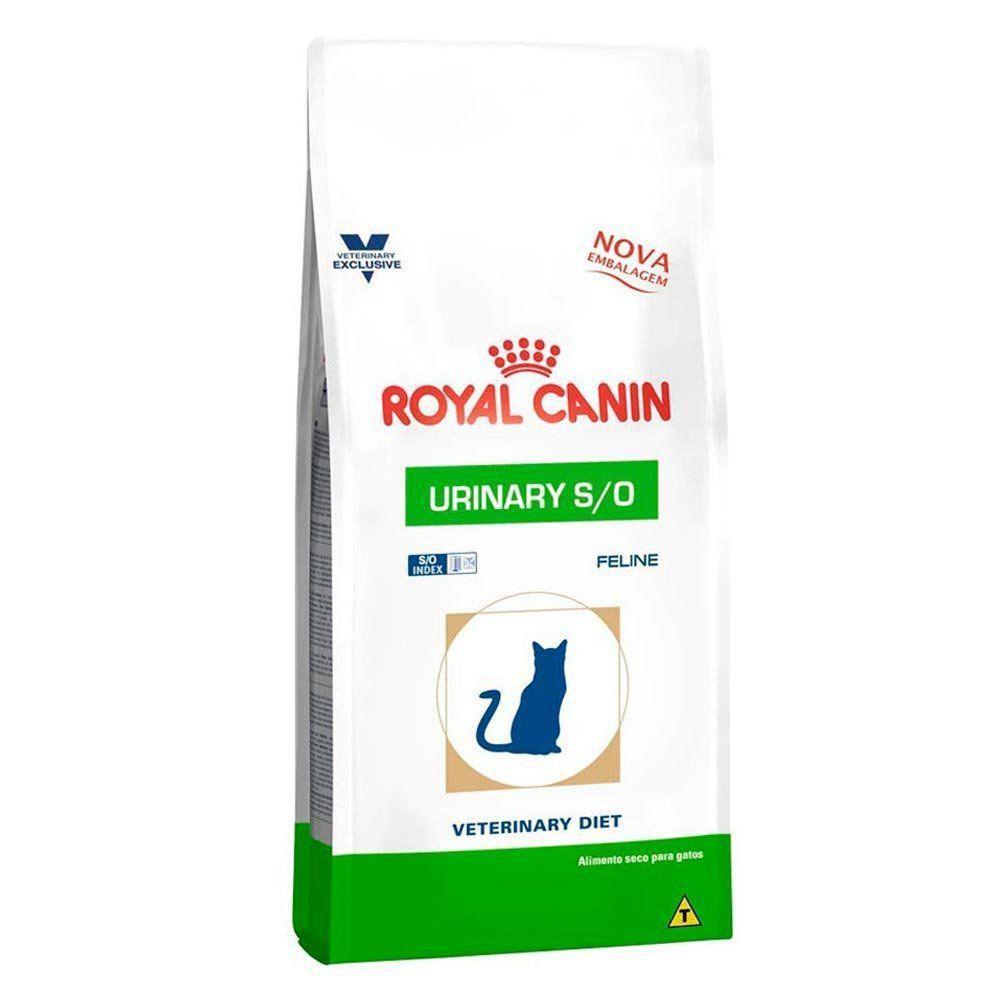 Ração Royal Canin Veterinary Diet Urinary S/O para Gatos Adultos com Doenças Urinárias