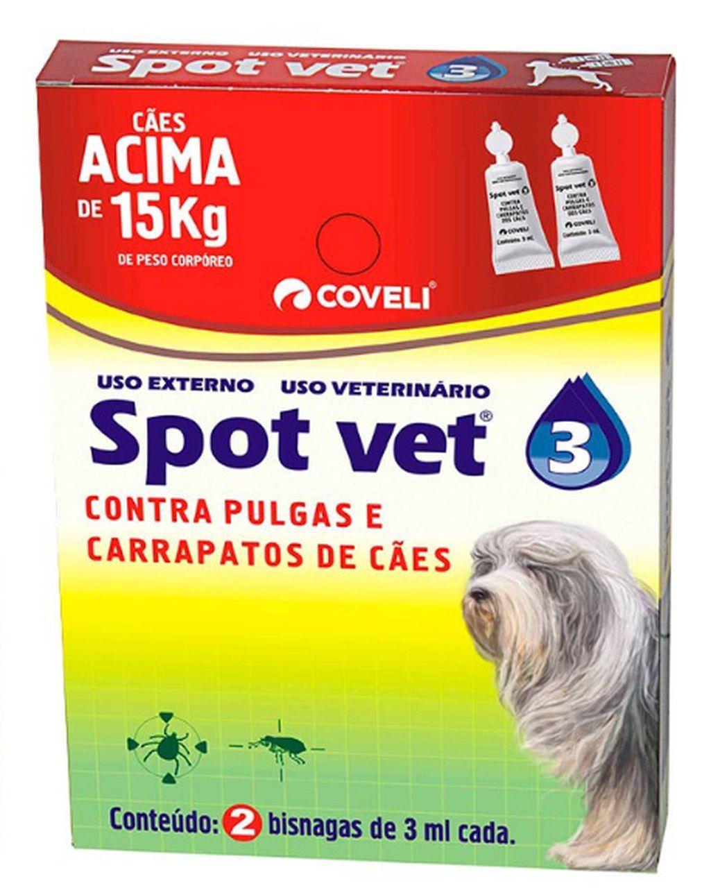 Spot Vet 3 2X3 Ml + 15 Kg