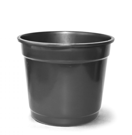 Vaso Plastico Preto N.07 - 37 Cm