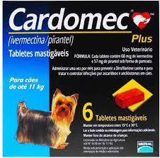 Vermífugo Merial Cardomec para Cães - 6 Tabletes