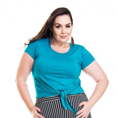 Blusa T-Shirt Com Amarração