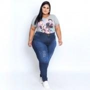 Calça Jeans Skinny com Puídos