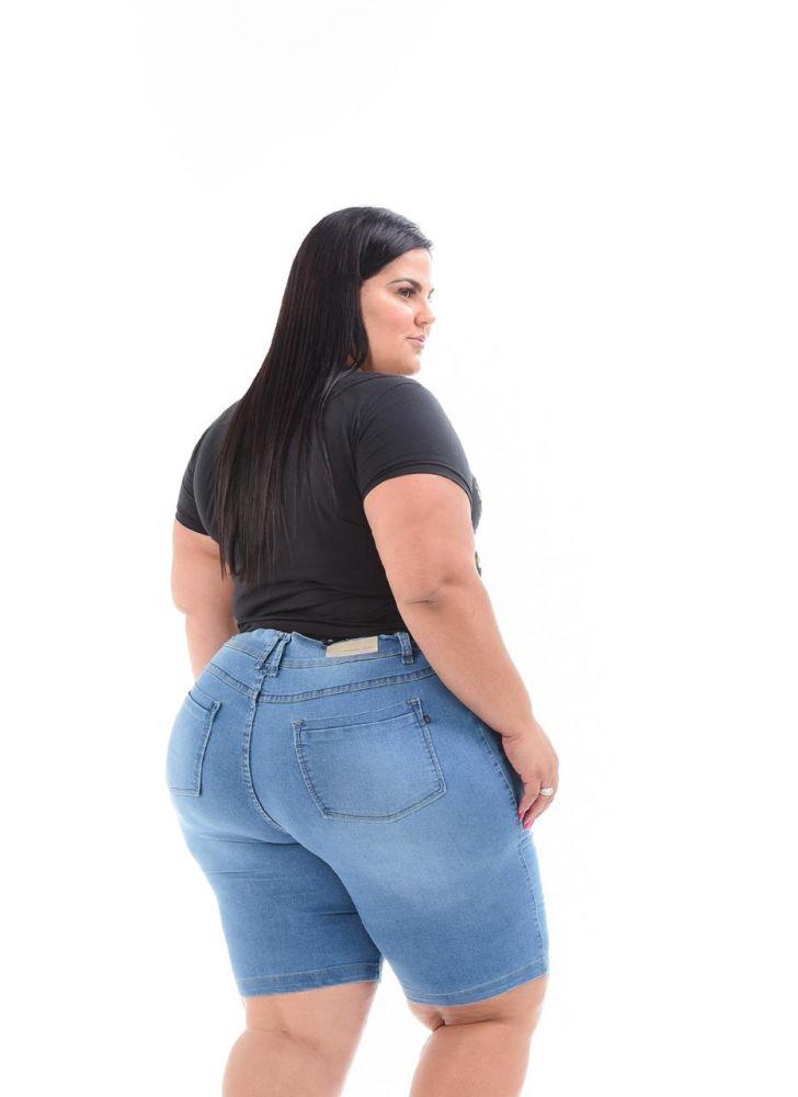 Bermuda Jeans Clara com Puídos