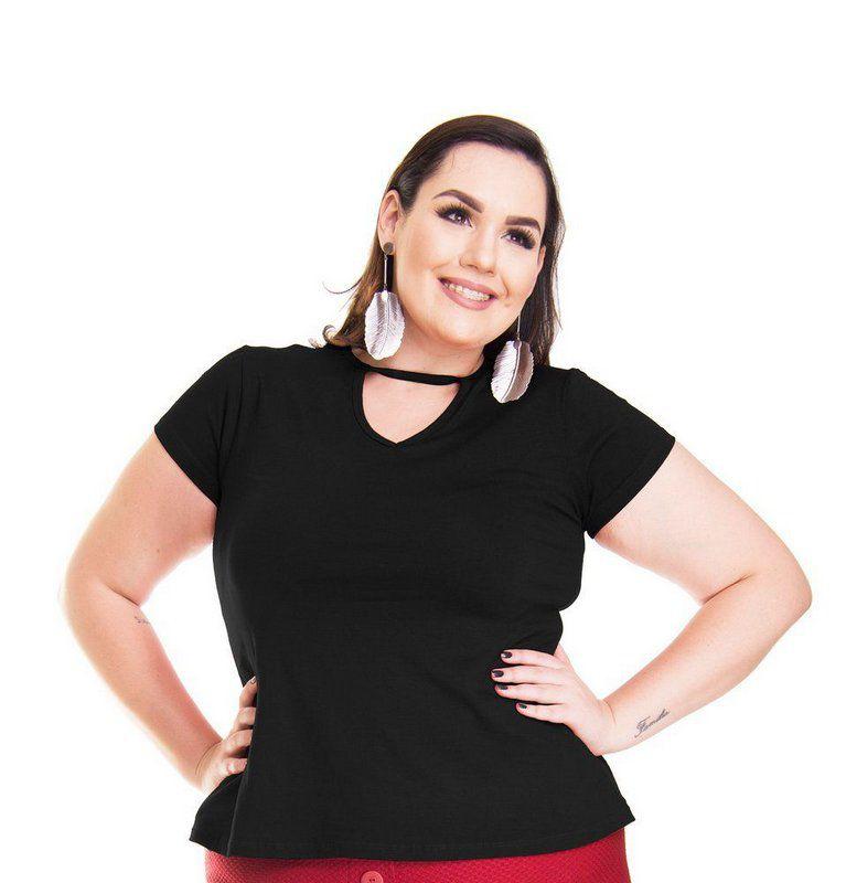 Blusa Bata T-Shirt Chocker