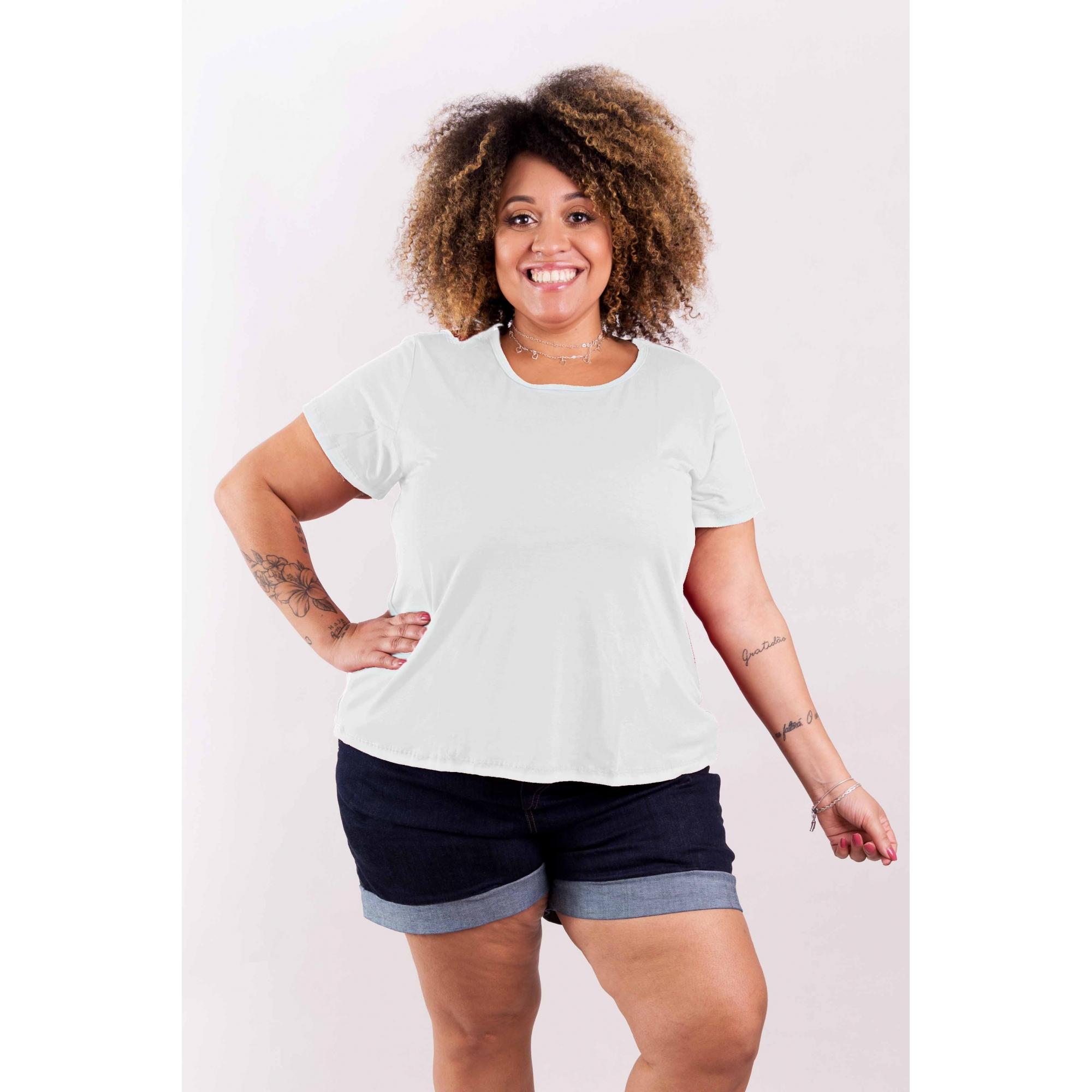 Blusa Bata T-Shirt Básica Gola Redonda