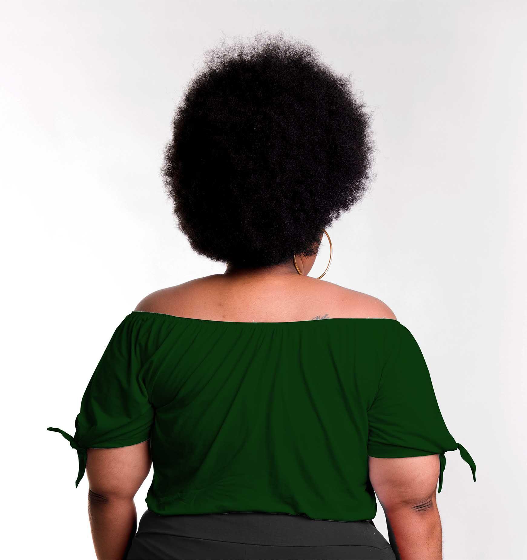 Blusa Cigana com Amarração no Ombro