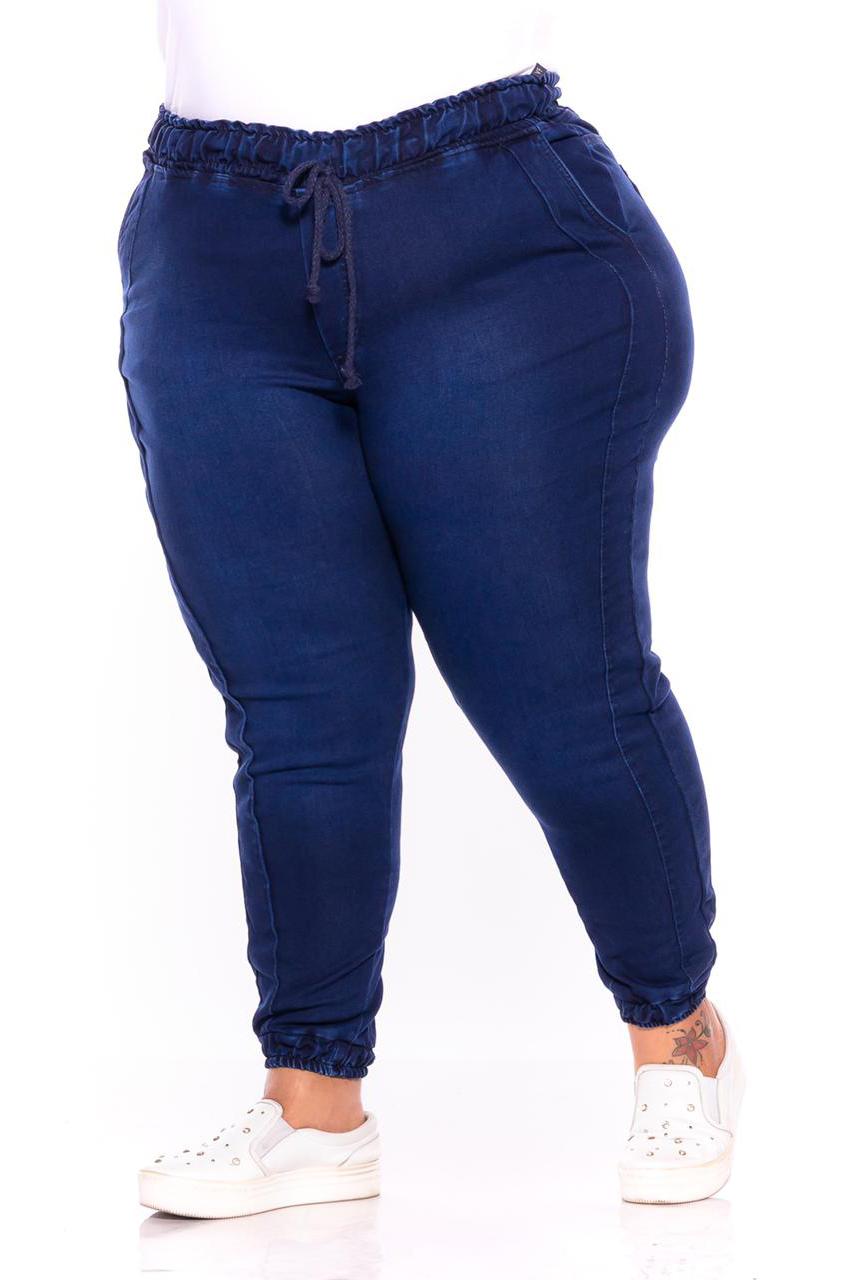Calça Jeans Jogger Jeans Escuro
