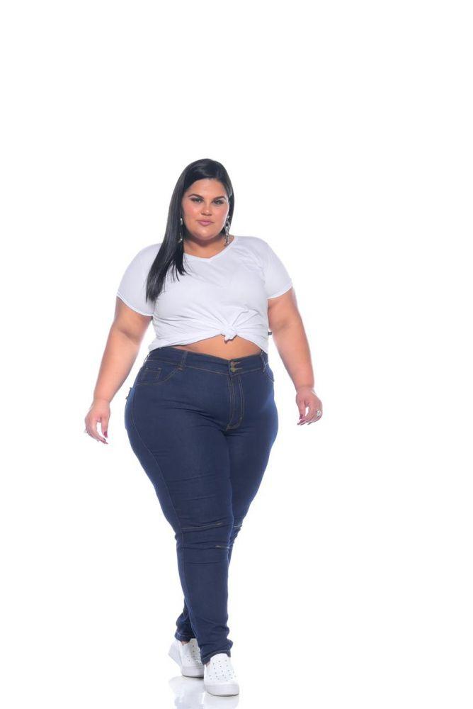 Calça Jeans Skinny com Detalhe no Joelho
