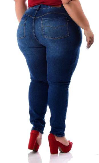 Calça Jeans Skinny Cós Alto com Rasgos