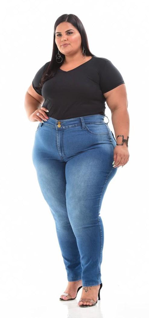 Calça Jeans Skinny Lavagem Clara
