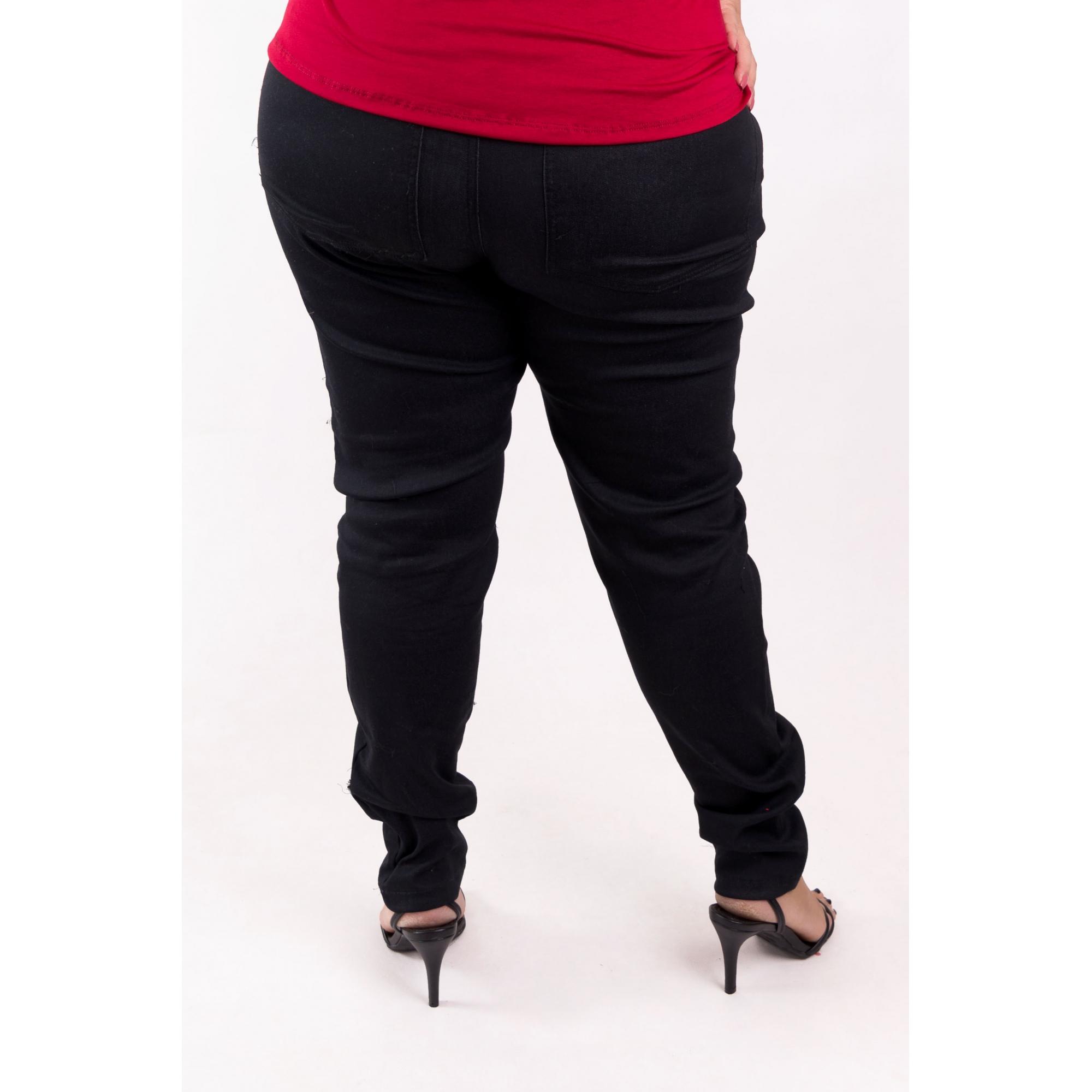Calça Skinny Preta Jeans