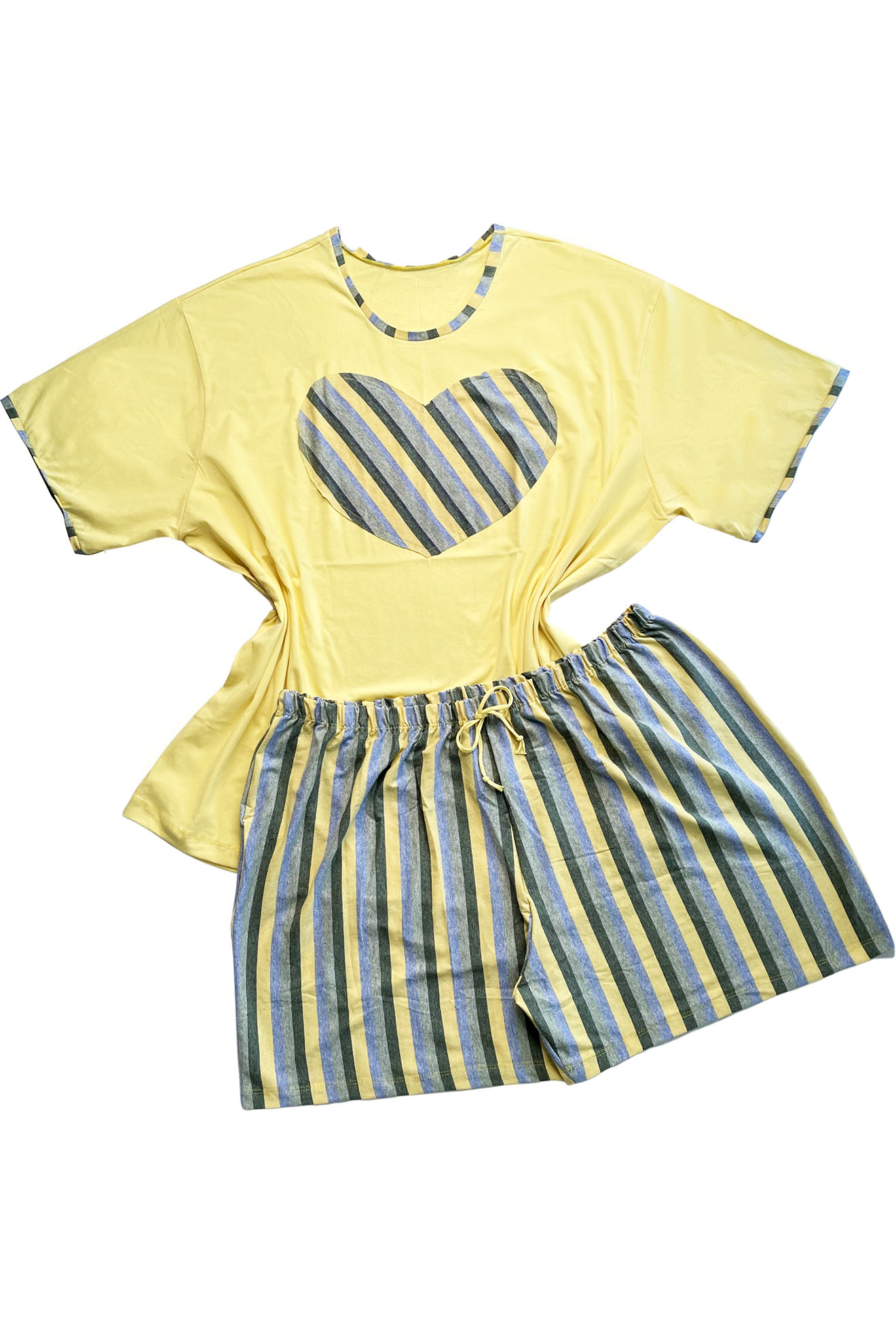 Conjunto Pijama com Aplique Amarelo