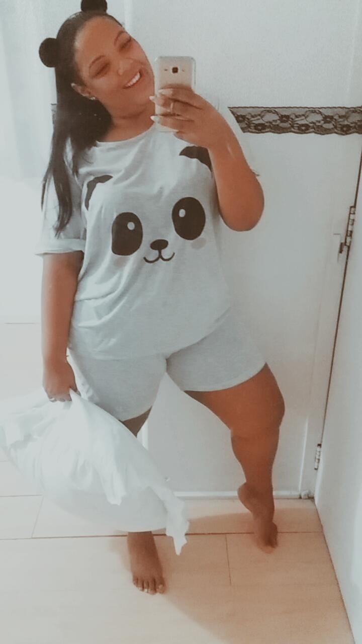 Conjunto Pijama Verão Short e Blusa de Panda